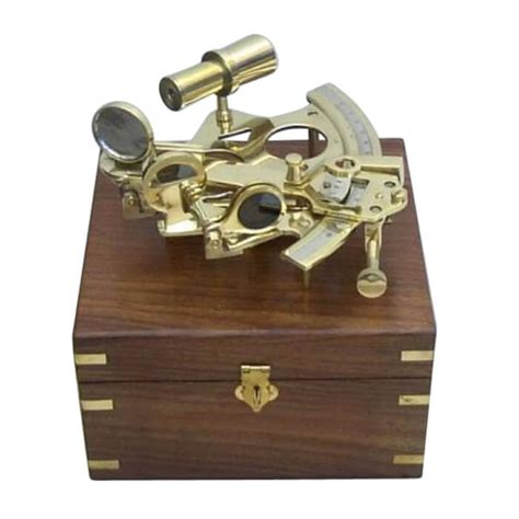 sextant box sextant wooden box nautical decor