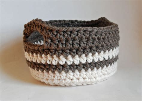 week 10 chunky crocheted basket a handmade year