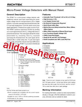c12ph zener diode datasheet pdf rt9817c 12py 데이터시트 pdf richtek technology corporation