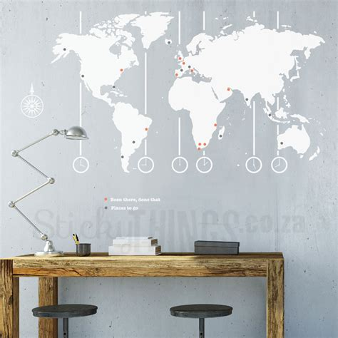 map wall decal world map decal world map wall stickythings co za