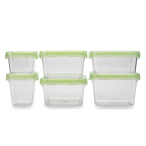 bed bath and beyond containers oxo good grips 174 12 piece green locktop container set bed