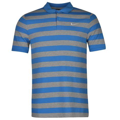 Polo Tshirt Nike Bluetopi nike stripe golf polo shirt mens blue grey top t shirt
