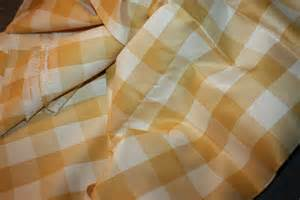 gold buffalo check drapery fabric for pillows 2 yards