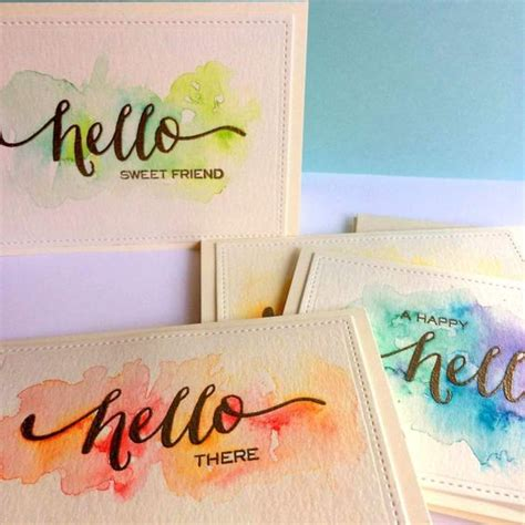 Handmade Card Sets - handmade card sets watercolor cards
