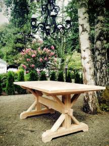 Make Your Own Dining Table Base Farmhouse Trestle Table Diy Kit Made To Order