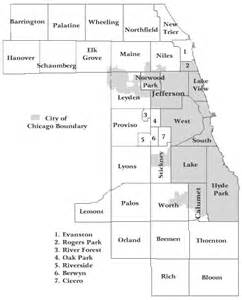 Chicago Township Map by Government Cook County Illinois Townships Map