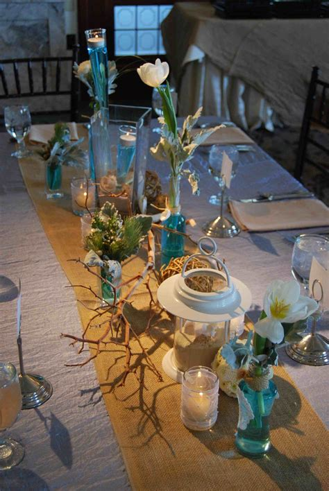 simple beach wedding centerpieces siudy net