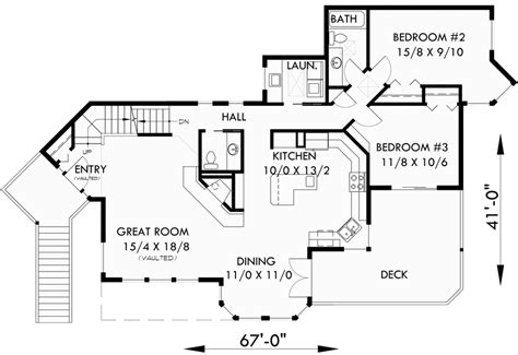 multi level house plans view home sloping lot multi level house plan 3d home