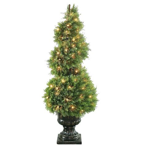 lighted spiral topiary tree national tree company 60 in upright juniper spiral tree
