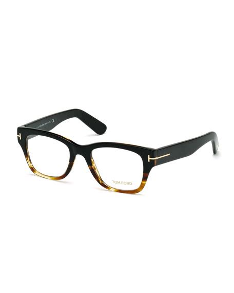 fave frames new two tone tom ford square two tone optical frames havana neiman