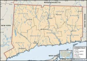 Map Of New York And Connecticut by State And County Maps Of Connecticut