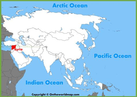 where is syria on the map syria location on the asia map