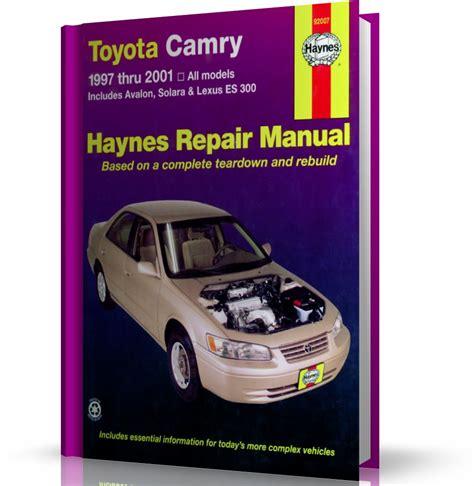 haynes toyota camry avalon solara and lexus es300 330 2002 2006 auto repair manual toyota camry avalon solara lexus es300 1997 2001 instrukcja napraw haynes