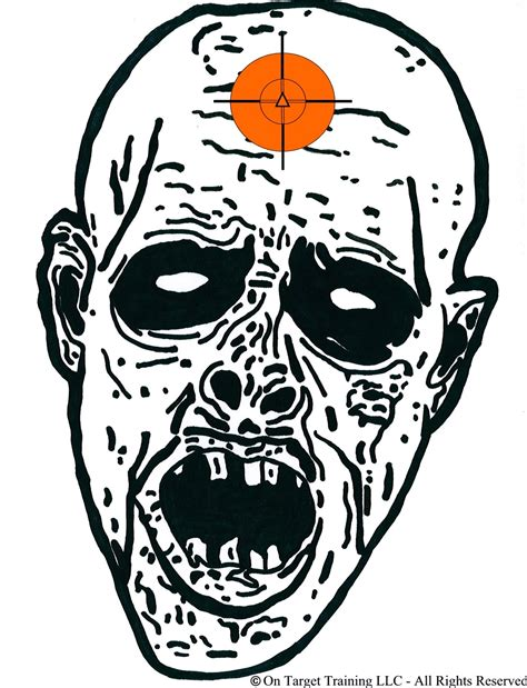 printable zombie gun targets on target training llc free downloads