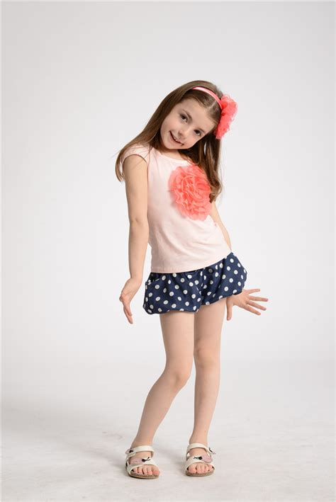 young girl models shorts modesty or lack thereof and children s fashion
