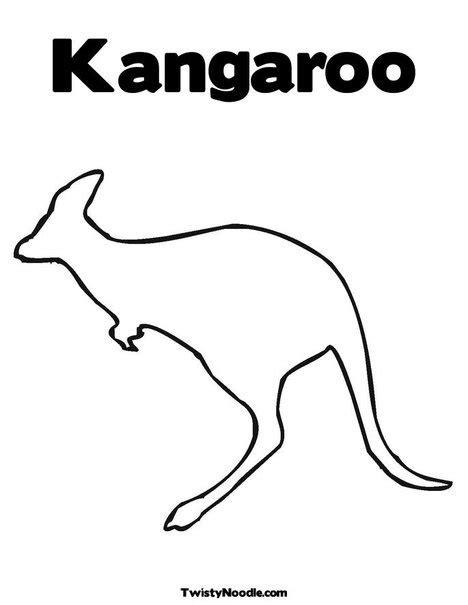kangaroo coloring pages preschool kangaroo pattern mfw kindergarten kangaroo pinterest