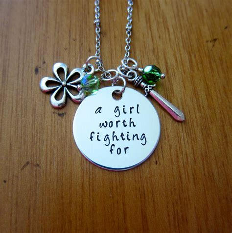 Mulan Necklace mulan inspired necklace a worth fighting for silver