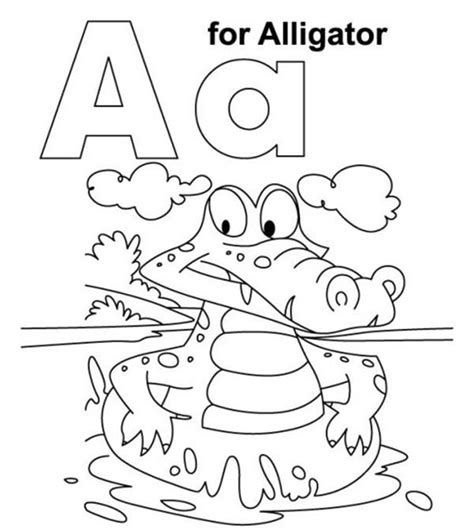 letter a coloring worksheets only coloring pages
