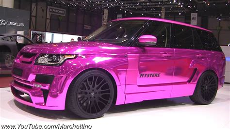 range rover pink and black chrome pink hamann range rover mystere youtube
