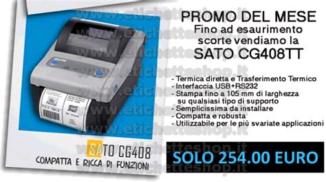 Printer Barcode Sato Cg 408 Tt Cg408 Cg 408 Tt Harga Promo Usb sato cg408tt stante per etichettatura sato cg408tt