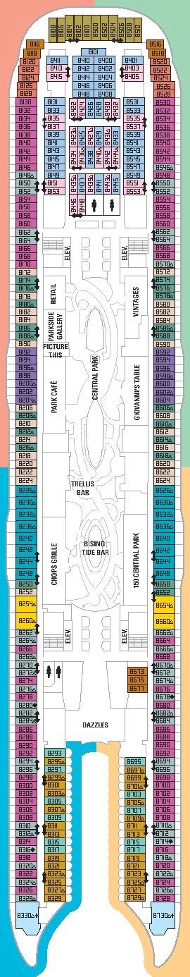 allure of the seas floor plan international cruise allure of the seas deck plan
