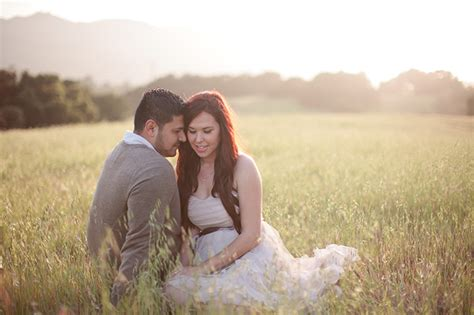 Forest Backyard Romantic Sunset Engagement Session Glamour Amp Grace