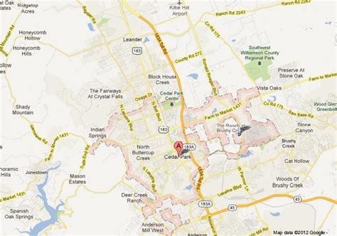 map of cedar park texas cedar park recreational department welcomes all to quot living quot in tx