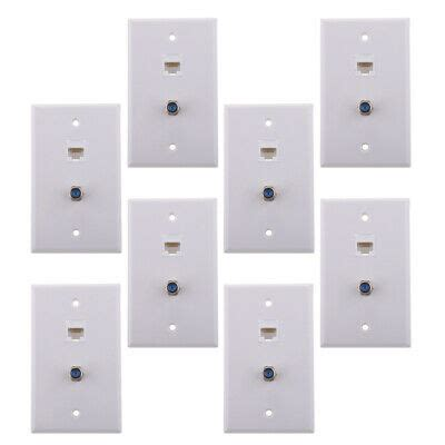 coax connector ethernet network wall plate rj jack