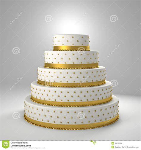 Goldene Hochzeitstorte by Goldene Hochzeitstorte Stock Abbildung Bild Klassisch