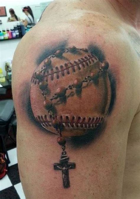 tattoo baseball with cross ideas tattoo designs