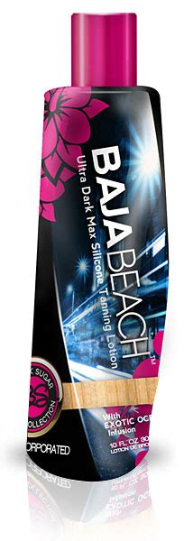 black sugar baja beach tanning lotion perfect for