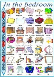 spanish word for bedroom in the bedroom pictionary b amp w version included