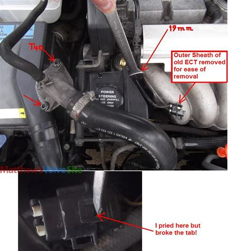 diy   ect engine coolant temp sensor replacement