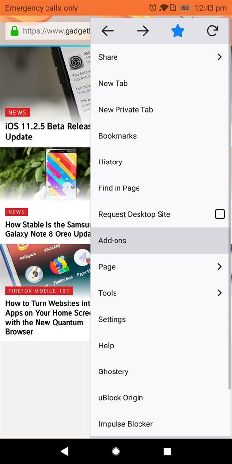 firefox browser mobile firefox mobile 101 add new functionality to your browser