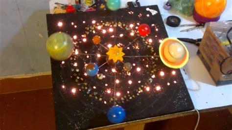 como hacer un planetario en una caja de zapatos sistema solar giratorio youtube