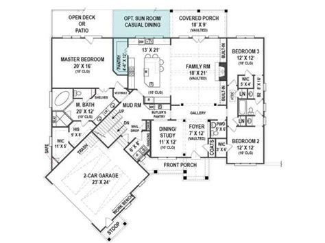 ranch 2300 sq ft house plans pinterest house plans 2 300 sq ft craftsman style ranch open floor plan