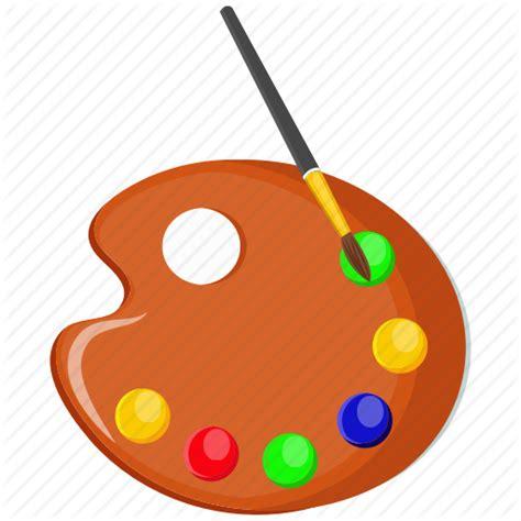color plate color plate paintbrush icon
