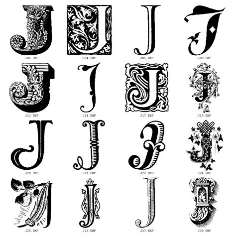 j letter tattoo design decorative letters j initials letter
