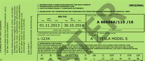 Sterreich Auto Gr Ne Versicherungskarte by Gr 252 Ne Karte F 252 R Die Auslandsreise