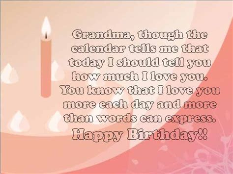 Grandmother Birthday Card Sayings Sweet 25 Happy Birthday Grandma Wishes And Quotes