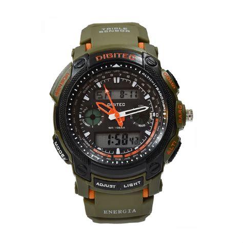 Jam Digitec Dg 2026t Hijau jual digitec dg2023tgrn jam tangan pria hijau