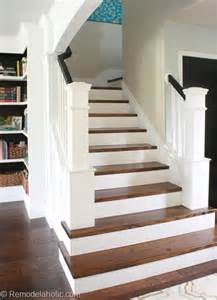 Staircase Makeover Ideas Remodelaholic 60 Carpet To Hardwood Stair Remodel