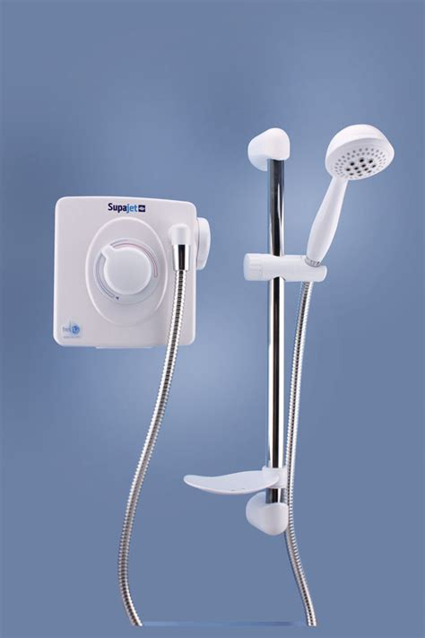 Power Shower Supajet 202 Low Voltage Power Shower White Chrome 2071