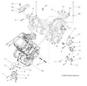 polaris ranger 2010 ranger rzr 4 800 efi r10xh76aa engine transmission mounting r10xh76aa