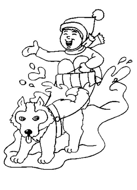 coloring pages of dog sledding inuit sled dogs coloring pages