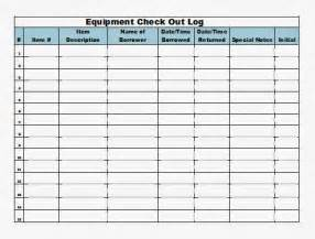 sign in and out log template the admin equipment check out log template