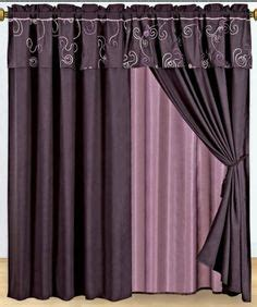 purple pattern curtains with valance and tieback on white also valances for bedroom interalle com 1000 images about curtains on pinterest purple curtains