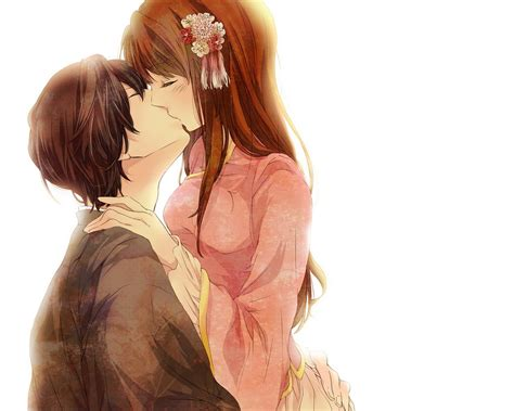 wallpaper of couple kiss animals zoo park anime couple anime love couple kiss