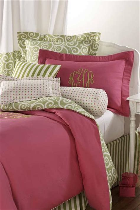 pink and green duvet set designer dorm bedding