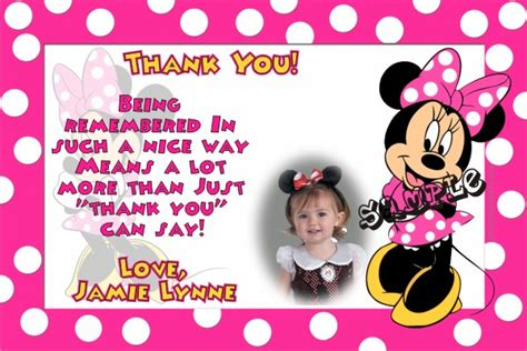 page plus minnie mouse greeting card template minnie mouse thank you cards
